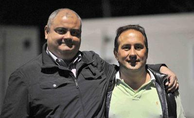 Gianluca Marconi con il presidente Planca