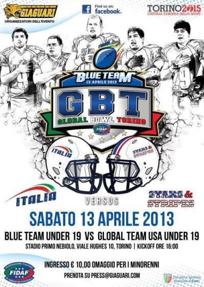 Locandina Global Bowl Torino